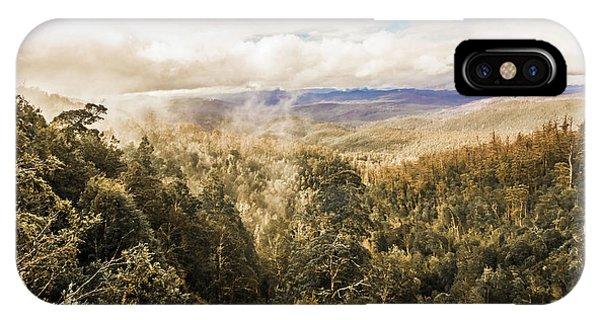 Morning Mist iPhone Case - Hartz Mountains To Wellington Range by Jorgo Photography - Wall Art Gallery