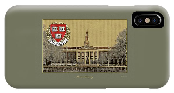 Harvard University Building Overlaid With 3d Coat Of Arms IPhone Case