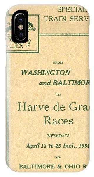 Harve De Grace Races IPhone Case