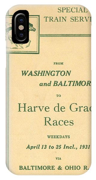 Harve De Grace Races IPhone Case