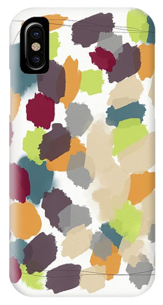 Harvest Day- Abstract Art By Linda Woods IPhone Case