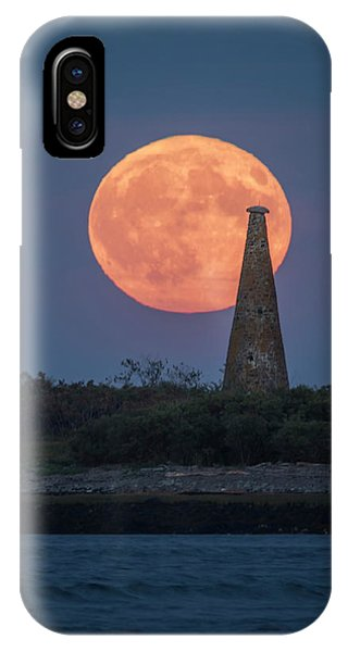 Harvest Moon Over Stage Island, Maine IPhone Case