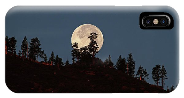 Sierra Nevada iPhone Case - Harvest Moonset by Donna Kennedy