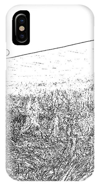 IPhone Case featuring the photograph Harvest Sunset Bw 7477 by Jerry Sodorff