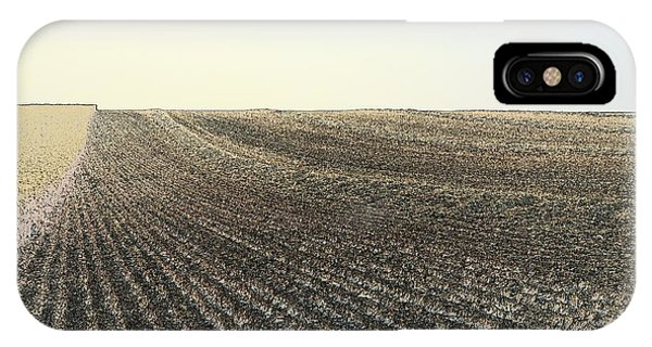 IPhone Case featuring the photograph Harvested Field 7075 by Jerry Sodorff