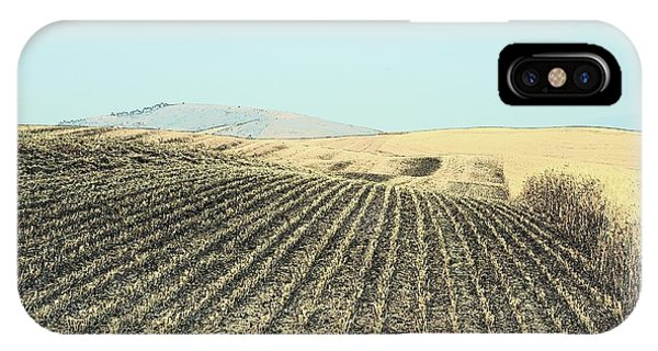 IPhone Case featuring the photograph Harvested Wheat 7077 by Jerry Sodorff