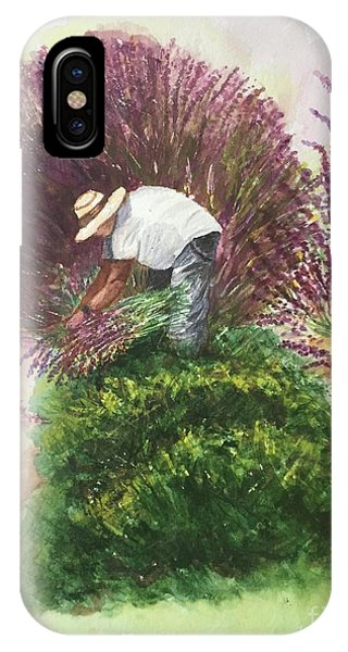 Harvesting Lavender IPhone Case
