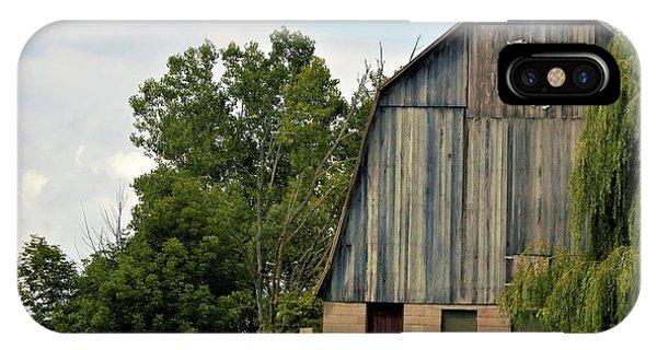0017 - Hassler Lake Road Horse Barn IPhone Case