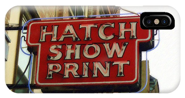 Hatch Show Print IPhone Case