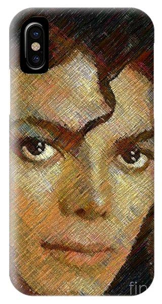 Hatched Portrait Of Michael Jackson IPhone Case