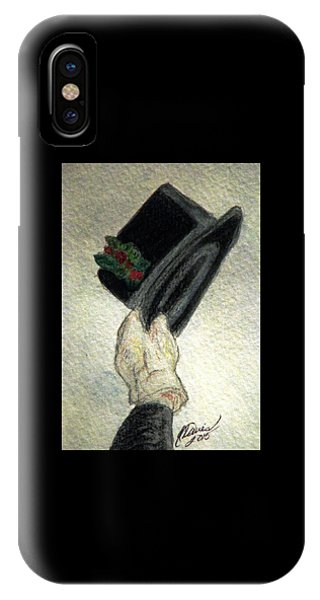 Hats Off To The Holidays IPhone Case