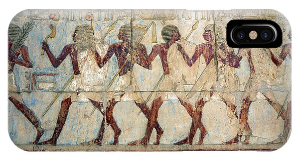 Hatshepsut Temple Parade Of Soldiers IPhone Case