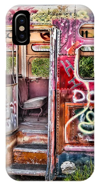 Haunted Graffiti Art Bus IPhone Case