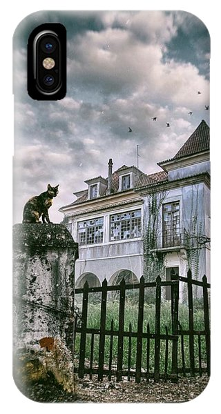Haunted House And A Cat IPhone Case