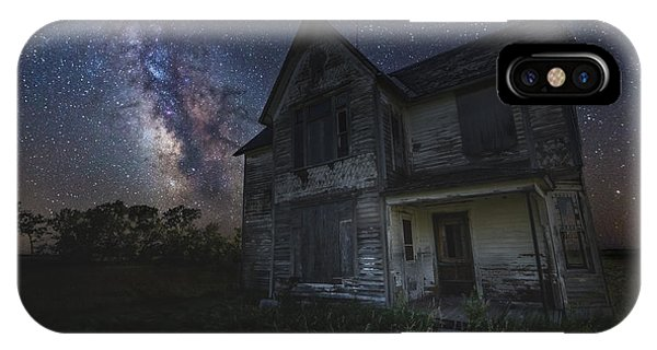 Astro iPhone Case - Haunted On The Prairie by Aaron J Groen