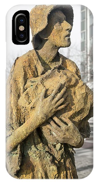 Haunting Reality Famine Memorial And World Poverty Stone IPhone Case