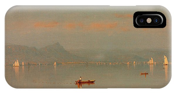 West Bay iPhone Case - Haverstraw Bay by Sanford Robinson Gifford
