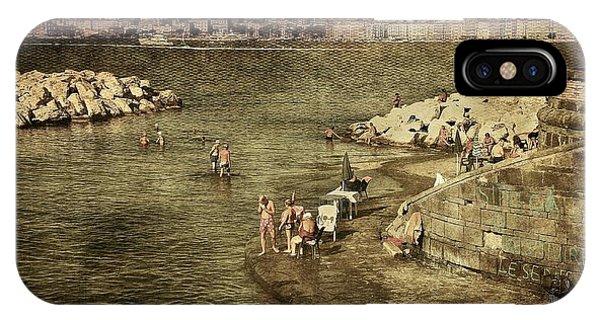 Having A Swim In Naples IPhone Case