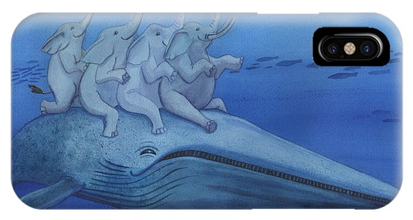 Having A Whale Of A Good Time IPhone Case