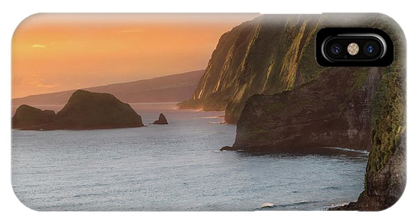 Pacific Ocean iPhone Case - Hawaii Sunrise At The Pololu Valley Lookout 2 by Larry Marshall