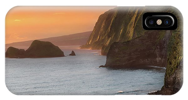 Helicopter iPhone X Case - Hawaii Sunrise At The Pololu Valley Lookout 2 by Larry Marshall