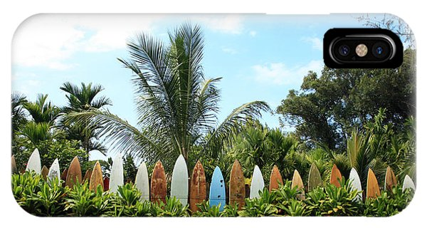 Hawaii Surfboard Fence IPhone Case
