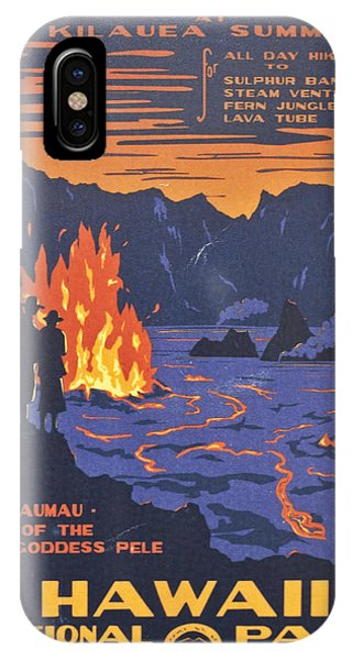 Hawaii Vintage Travel Poster IPhone Case
