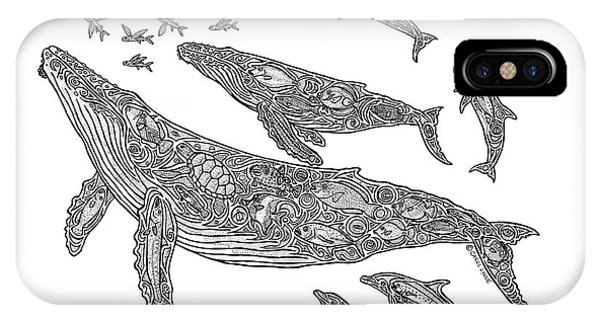 Whales iPhone Case - Hawaiian Humpbacks by Carol Lynne