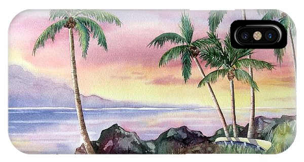 Hawaiian Sunset iPhone Case - Hawaiian Sunset by Deborah Ronglien