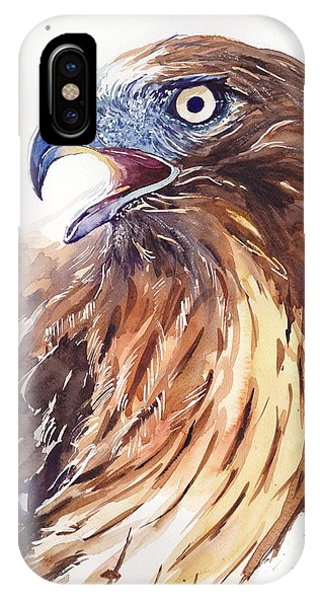 Sparrow iPhone Case - Hawk Watercolor by Suzann's Art