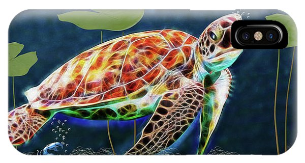 Hawksbill Sea Turtle IPhone Case