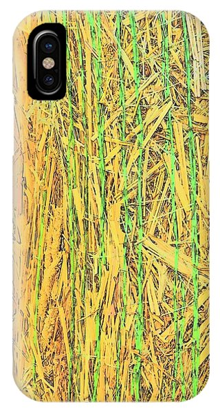 IPhone Case featuring the photograph Hay Bale Twine 7340 by Jerry Sodorff