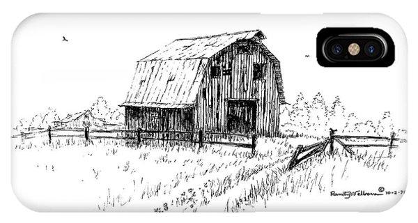 Hay Barn With Broken Gate IPhone Case