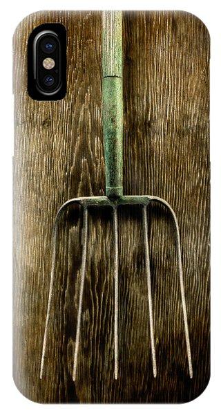 Farm Tool iPhone Case - Tools On Wood 7 by Yo Pedro