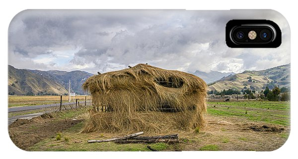 Hay Hut In Andes IPhone Case