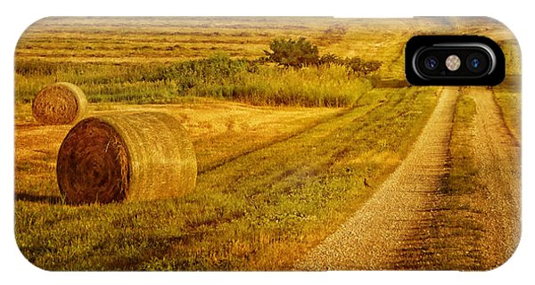 Hay Rolls - Country Road IPhone Case