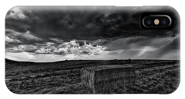 Rockford iPhone Case - Hay Storm Black And White by Mark Kiver