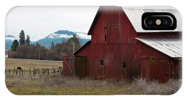 Hayfork Red Barn IPhone Case