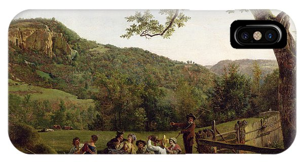 Hill iPhone Case - Haymakers Picnicking In A Field by Jean Louis De Marne