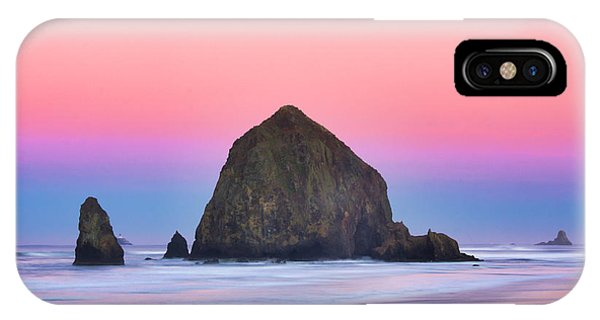 Haystack Rock At Dawn IPhone Case