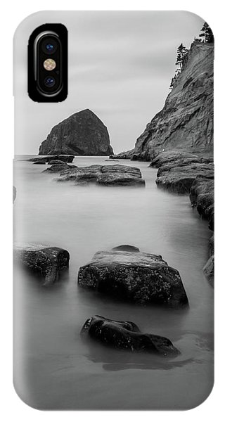 Haystack Rock In Bw IPhone Case