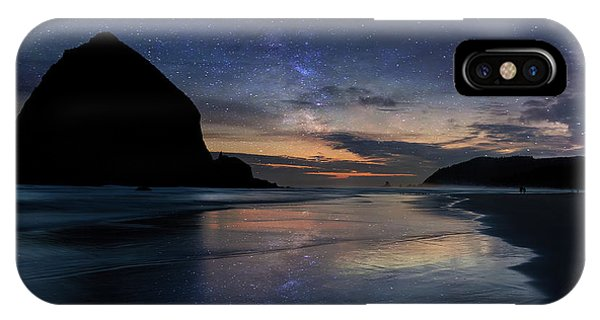 Haystack Rock Under Starry Night Sky IPhone Case