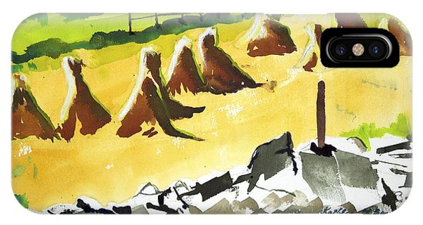 Haystacks And Wall IPhone Case