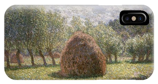 French Impressionism iPhone Case - Haystacks At Giverny by Claude Monet
