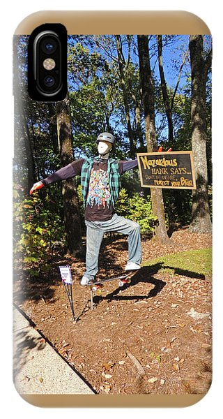Hazardous Hank Scarecrow At Cheekwood Botanical Gardens IPhone Case