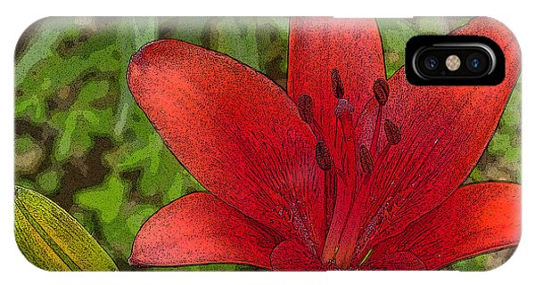 Hazelle's Red Lily IPhone Case