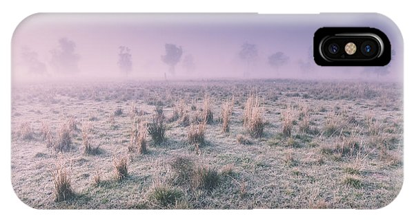 Cold Day iPhone Case - Hazy Australian Winter Scene by Jorgo Photography - Wall Art Gallery