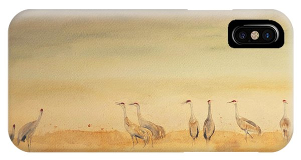 Hazy Days Cranes IPhone Case