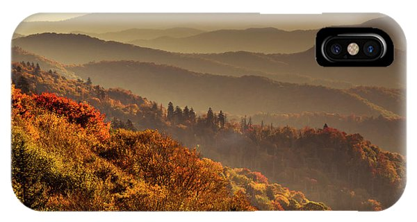 Hazy Sunny Layers In The Smoky Mountains IPhone Case
