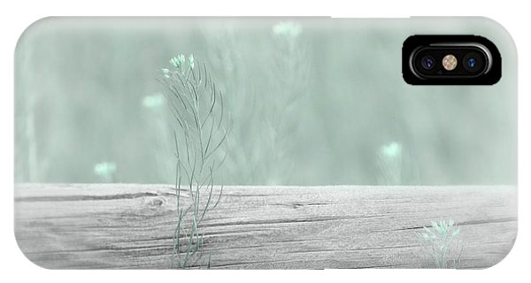 IPhone Case featuring the photograph Hazy Teal Wildflowers by Jennie Marie Schell